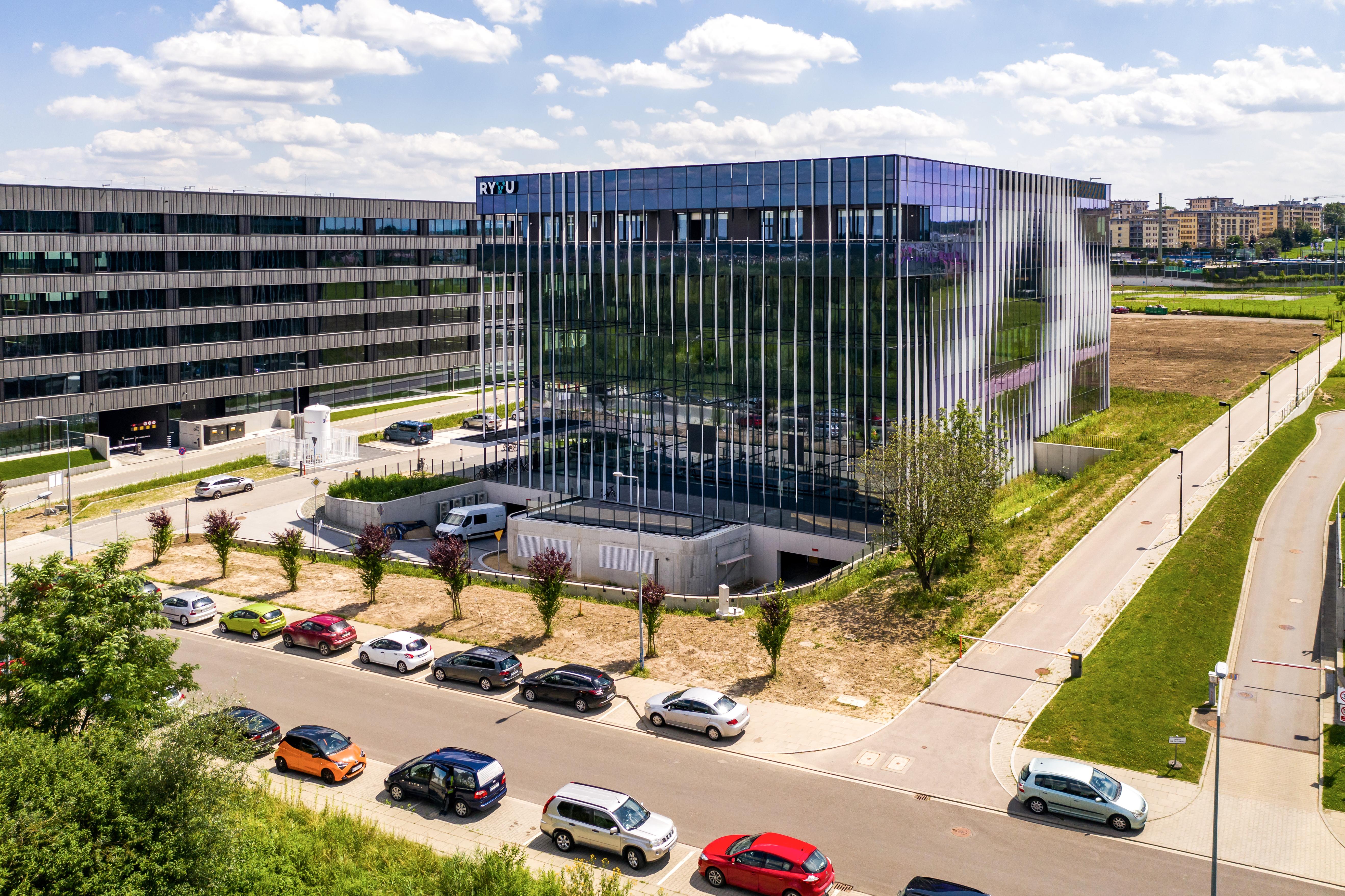 Kompleks laboratoryjno-biurowy Ryvu Therapeutics w Krakowie