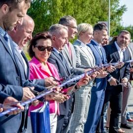 Uroczyste otwarcie ulicy Nowej Kazimierskiej w Rumi