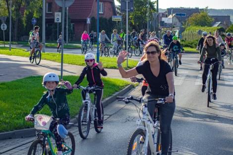 Miejski przejazd rowerowy