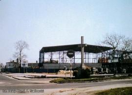 Zdjęcie wykonane podczas budowy hali – fot. Andrzej Sadłowski/Dzieje Rumi