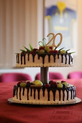 Tort z okazji 20-lecia.