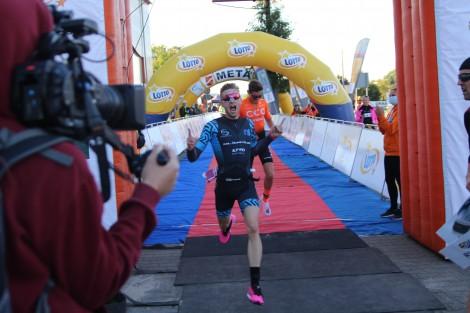 Igor Siódmiak, drugie miejsce w kategorii elity wśród mężczyzn. Fot. MOSiR Rumia