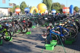 Rowery przygotowane do rywalizacji. Fot. MOSiR Rumia