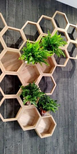 Wystrój hotelu nawiązuje do hobby właściciela – pszczelarstwa.