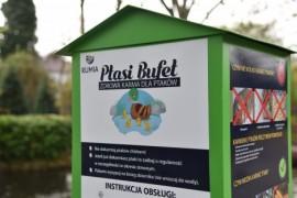 Kaczkomat zlokalizowany w parku Starowiejskim, przy placu zabaw Smyk