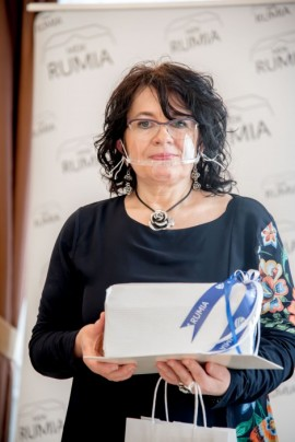 Beata Went podczas odebrania nagrody