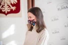 Katarzyna Szczepańska przed odebraniem nagrody
