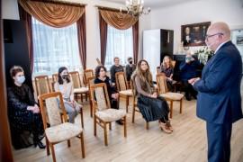 Przemówienie wiceburmistrza Piotra Wittbrodta
