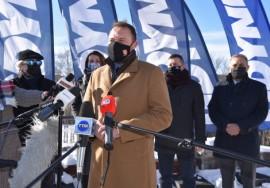 Przemawiający Marek Łucyk, wiceprezydent Gdyni do spraw rozwoju.