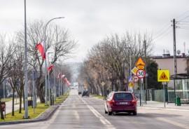 Flagi na ul. Żwirki i Wigury