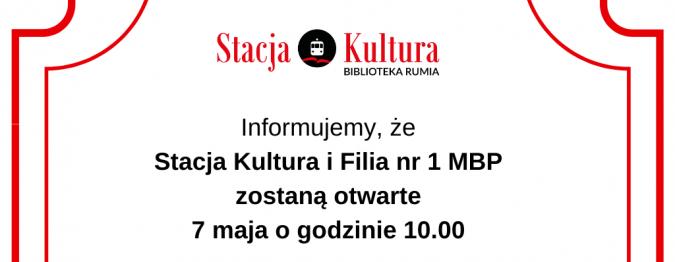 Stacja Kultura i filia nr 1 ponownie otwarte