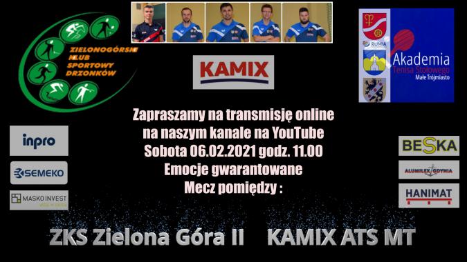 ZKS Zielona Góra II kontra KAMIX ATS MT