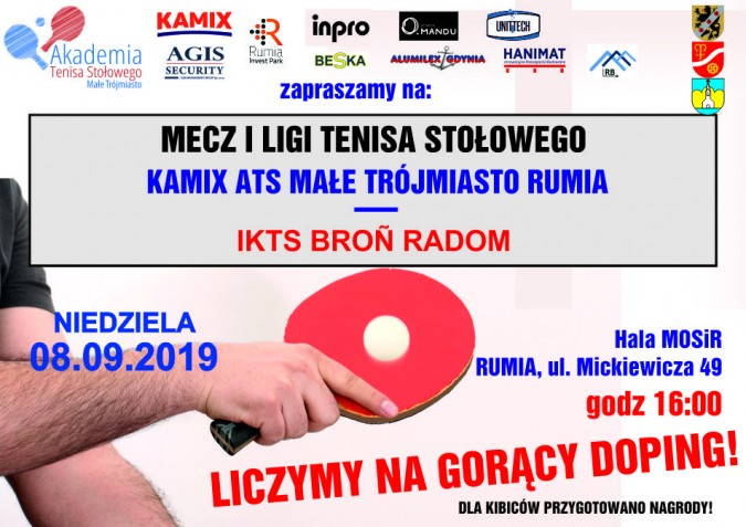 Mecz I ligi tenisa stołowego – zaproszenie