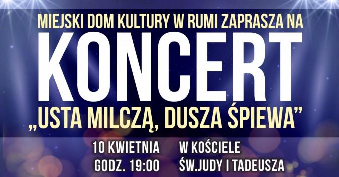 """MDK zaprasza na koncert pt. """"Usta milczą, dusza śpiewa"""""""