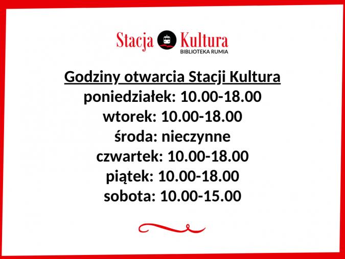 Zmiana godzin pracy Stacji Kultura