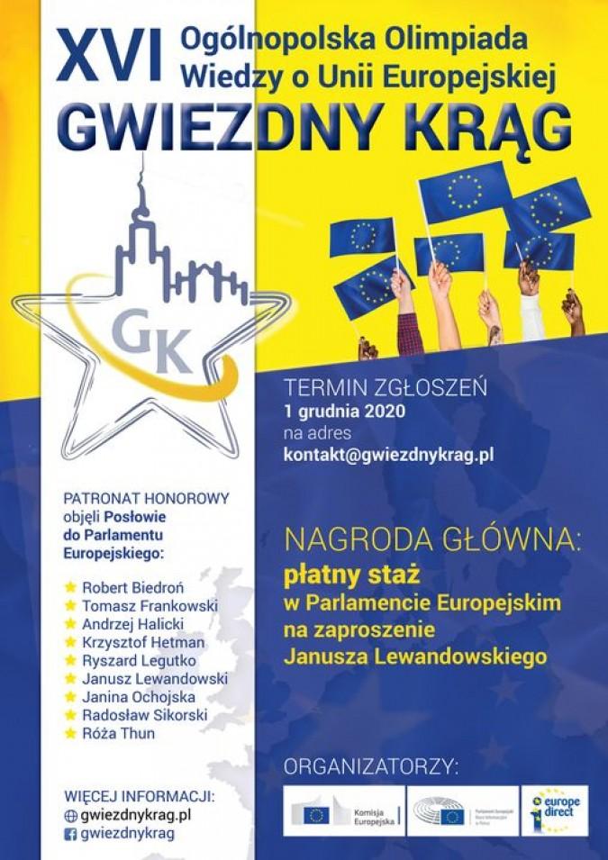 """Ogólnopolska Olimpiada Wiedzy o Unii Europejskiej """"Gwiezdny Krąg"""""""