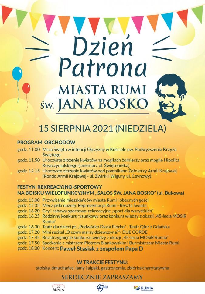 Dzień Patrona Rumi św. Jana Bosko – festyn i koncert zespołu Papa D