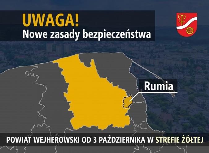 Rumia znalazła się w żółtej strefie regionalnych obostrzeń