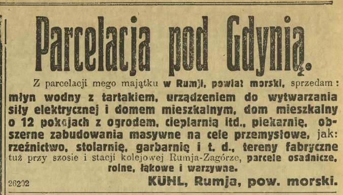 Rumia w archiwalnej prasie – Dziennik Bydgoski
