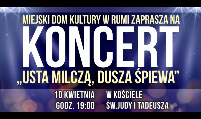"""MDK zaprasza na koncert pt. """"Usta milczą..."""