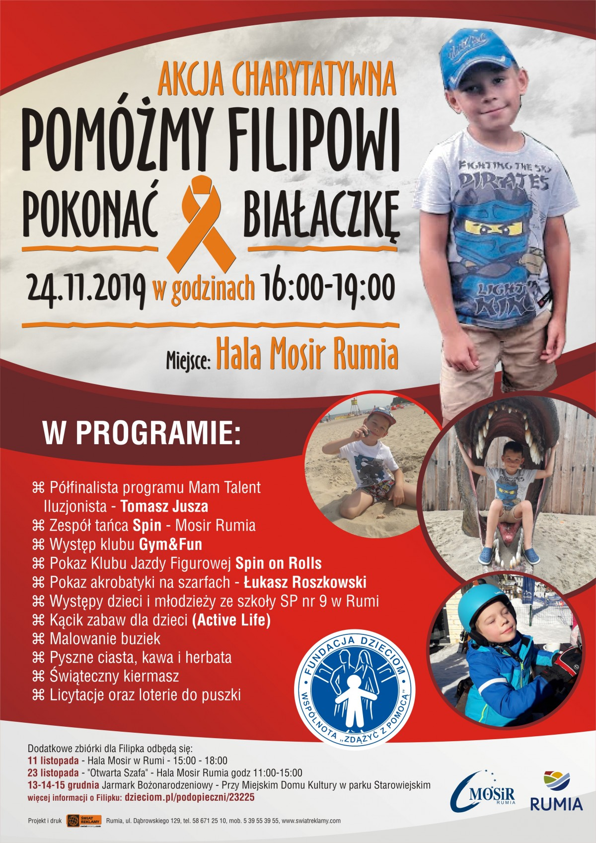 Akcja charytatywna dla chorego Filipa – pokazy, koncerty i kwesta