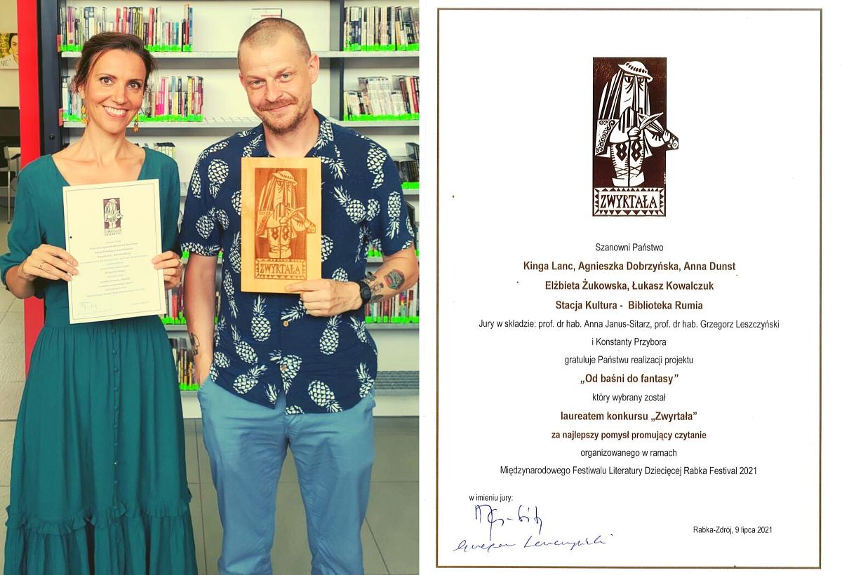 Stacja Kultura laureatką ogólnopolskiej nagrody Zwyrtała