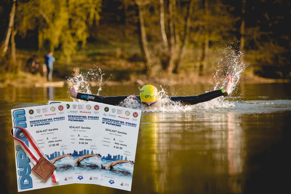 Rumianka brązową medalistką mistrzostw Polski w pływaniu