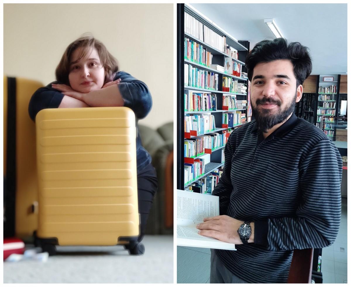 Zagraniczni wolontariusze Stacji Kultura: Olga i Elniz