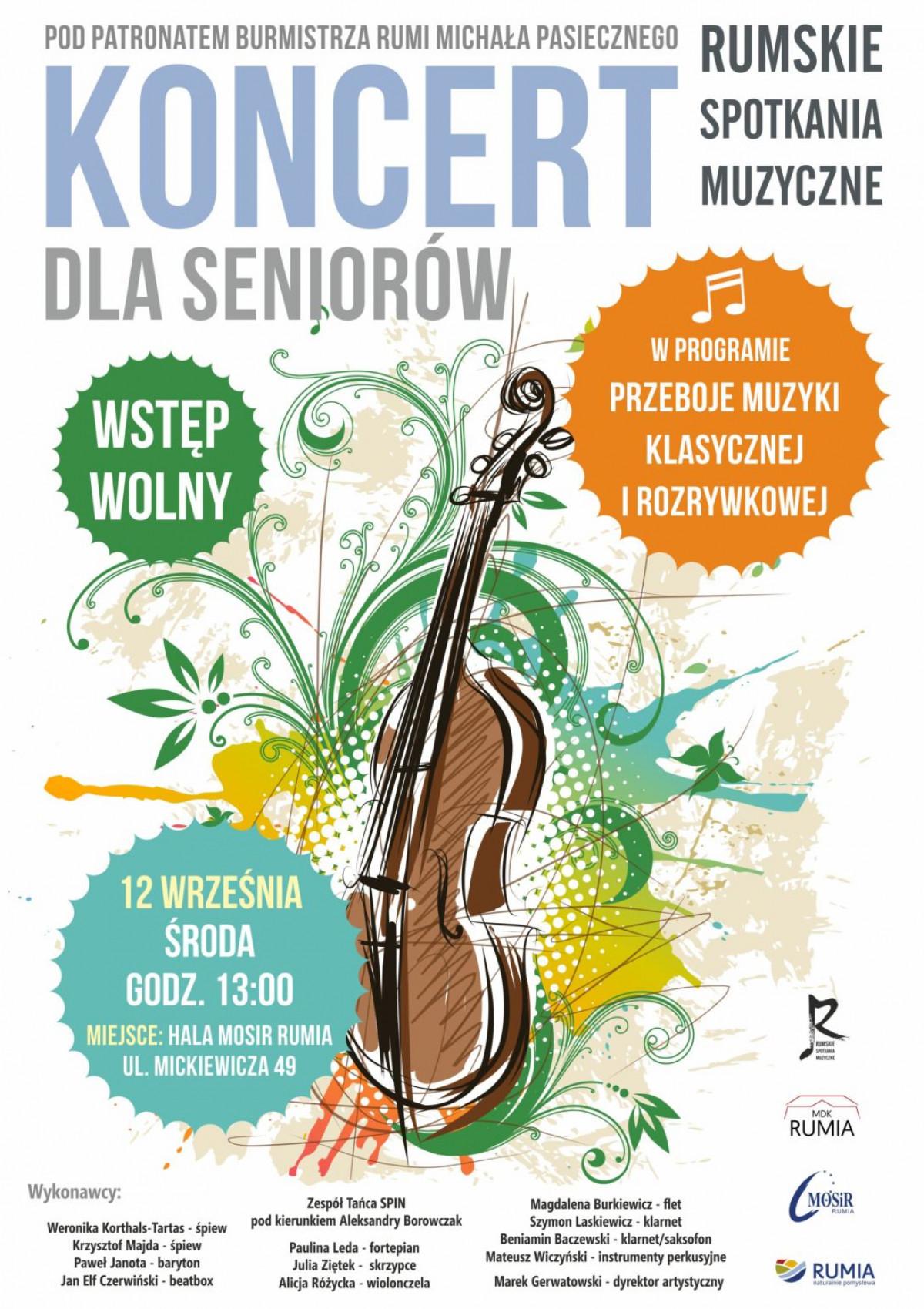 Wrześniowy koncert dla seniorów